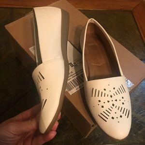 White Flat Slide Ons. Rubber Non slip sole. BUNDLE